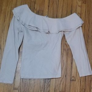 Off the shoulder worn once cotton blouse